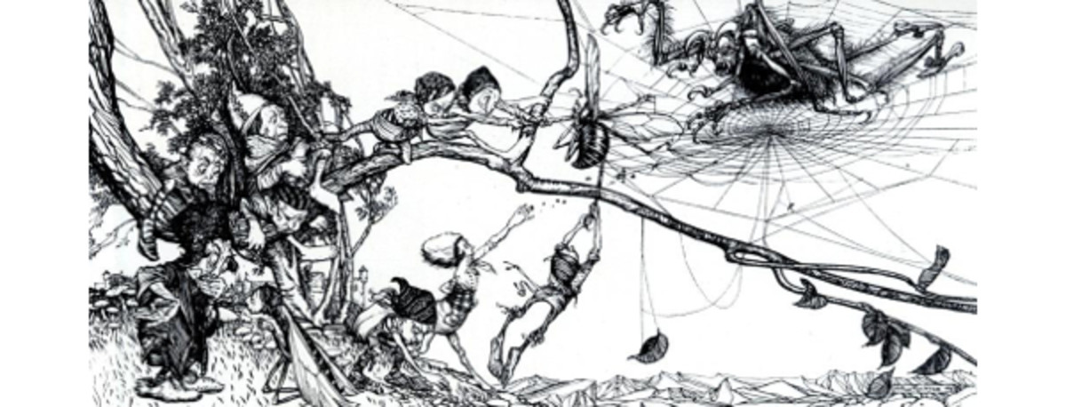 "Here we show ""The Rescue"" by Arthur Rackham."