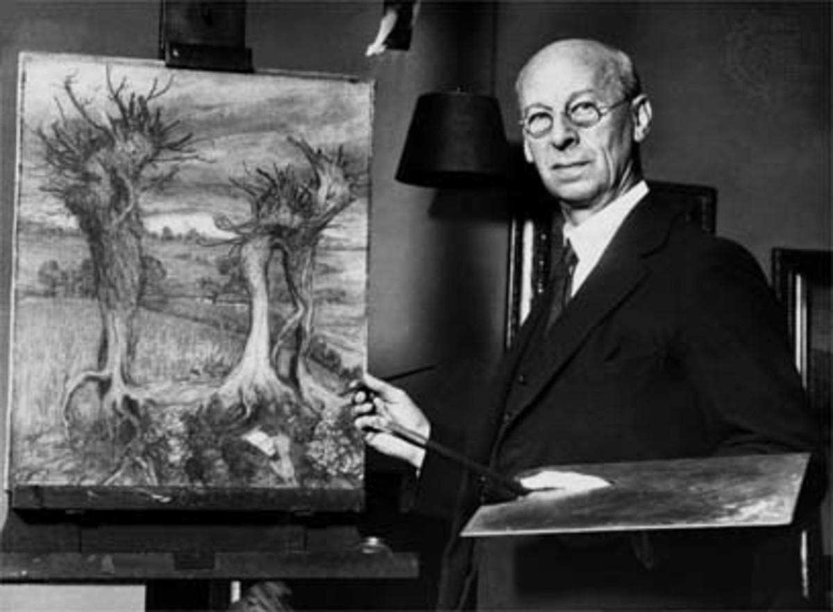 Here we show a vintage photograph of Arthur Rackham.