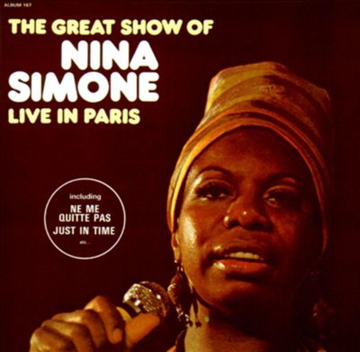 """Simone's """"Live in Paris"""" album cover"""