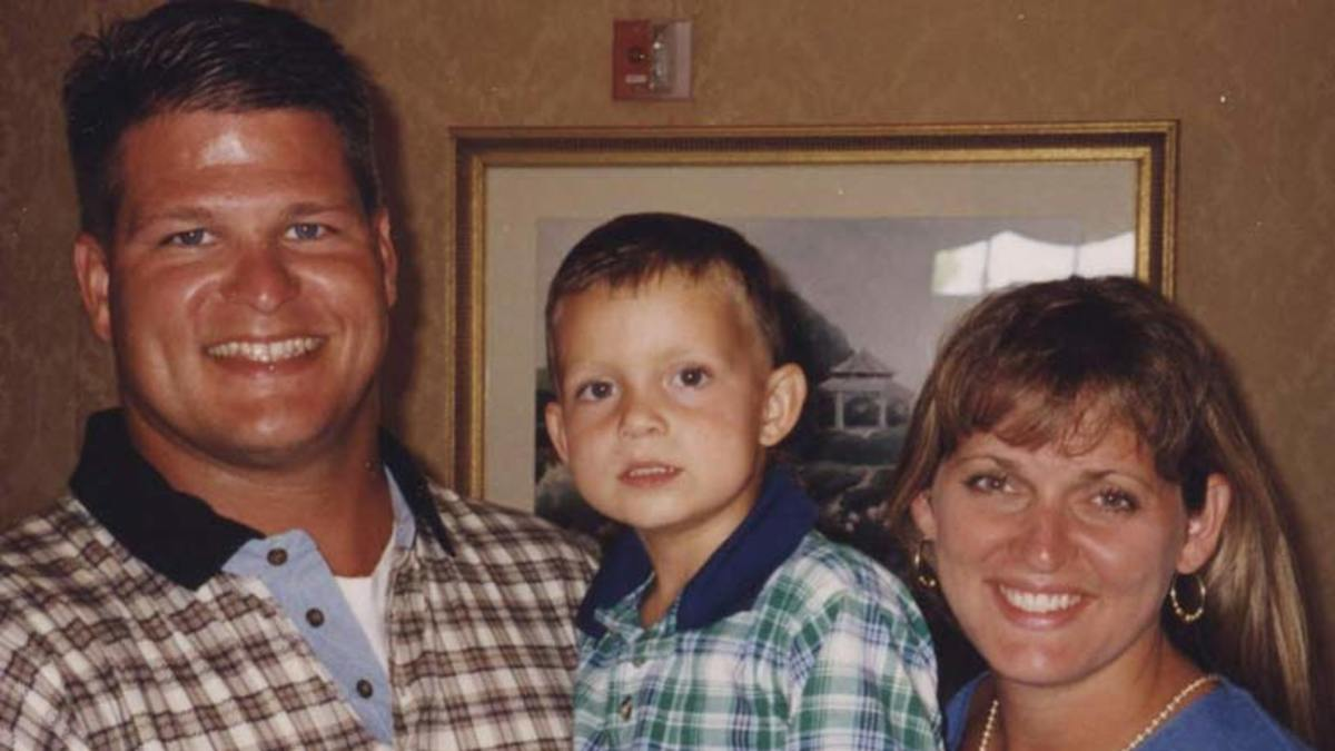 David Temple with wife Belinda and son Evan
