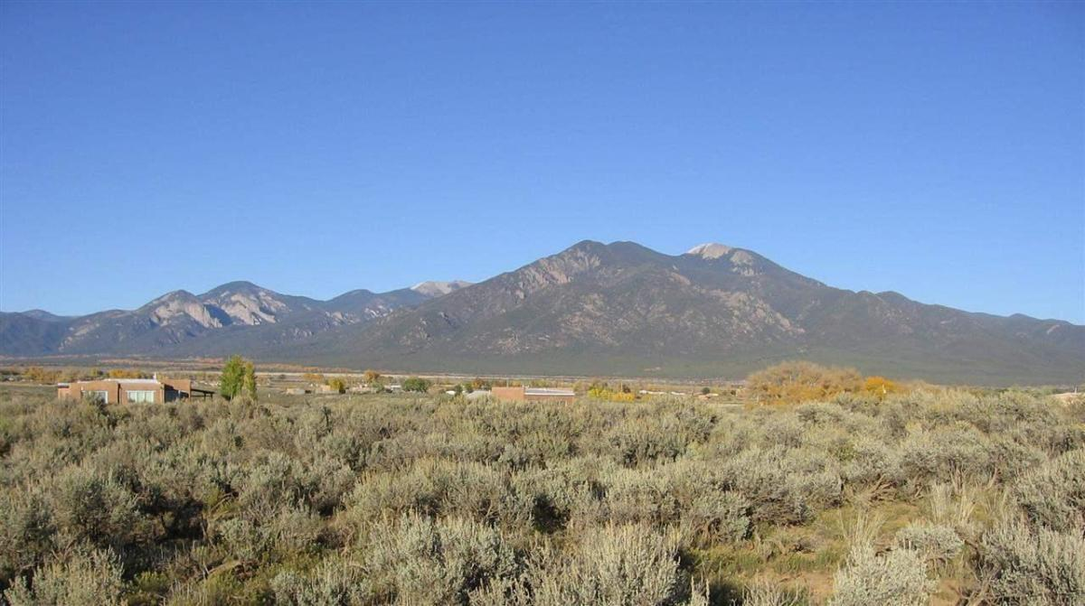 Taos Mountain part of the Sangre de Cristo Mountains.  Taos, New Mexico