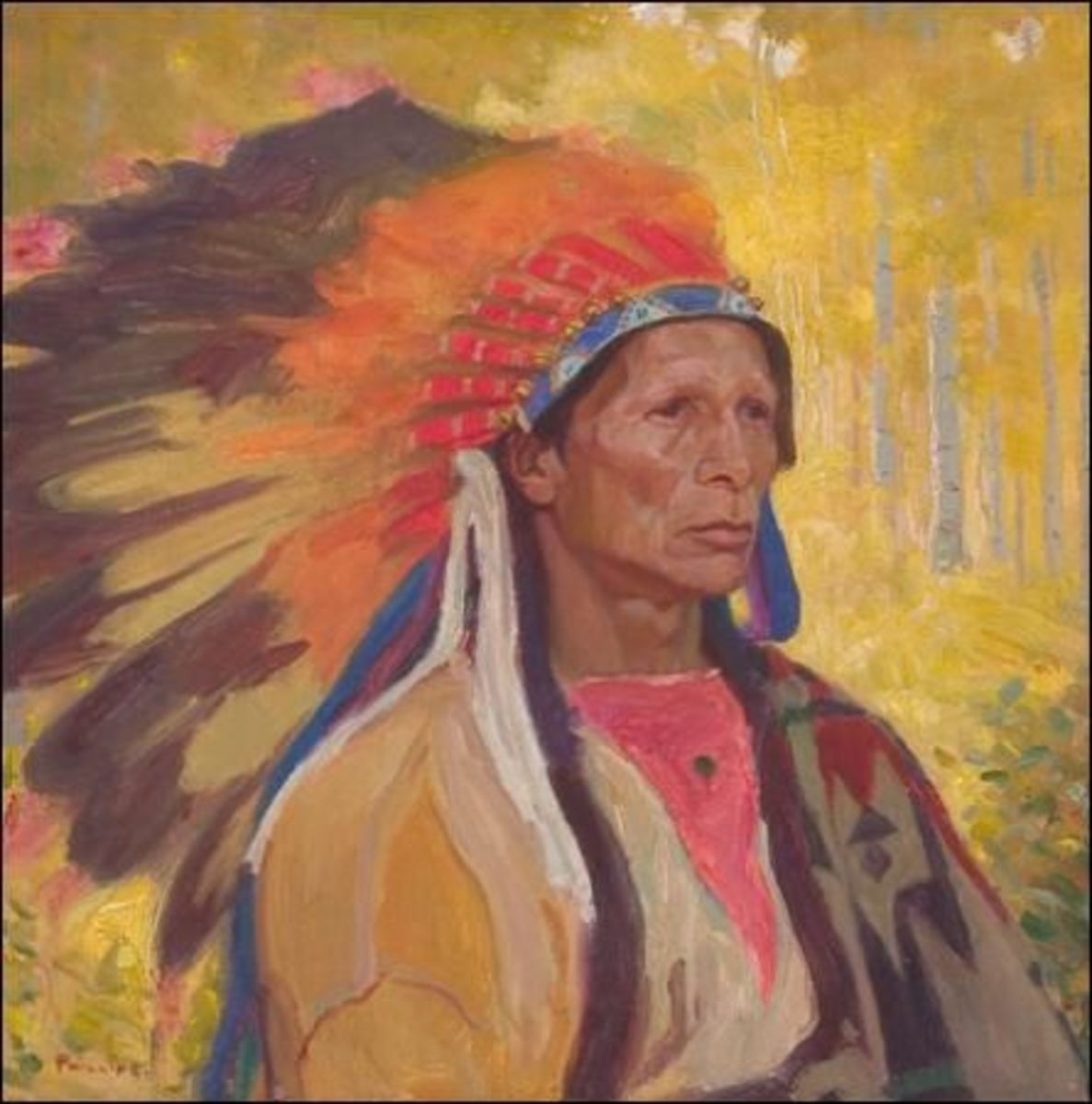 Portrait of an Indian Chief, by Bert Phillips