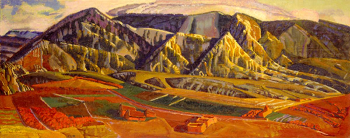 Mountains Near Taos, 1955, by Ernest Blumensheim