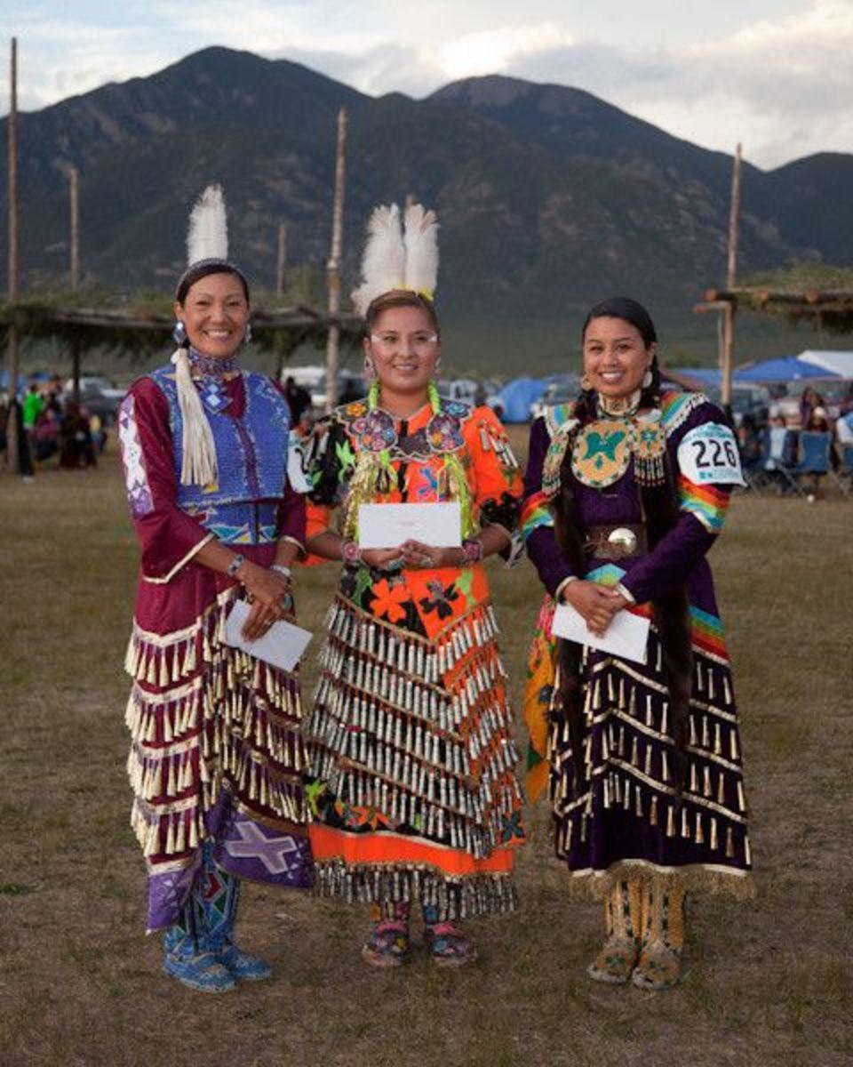 Native woman at Taos Pueblo