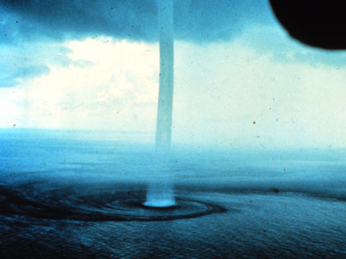 """A supposed """"tornado in the Dragon's Triangle."""