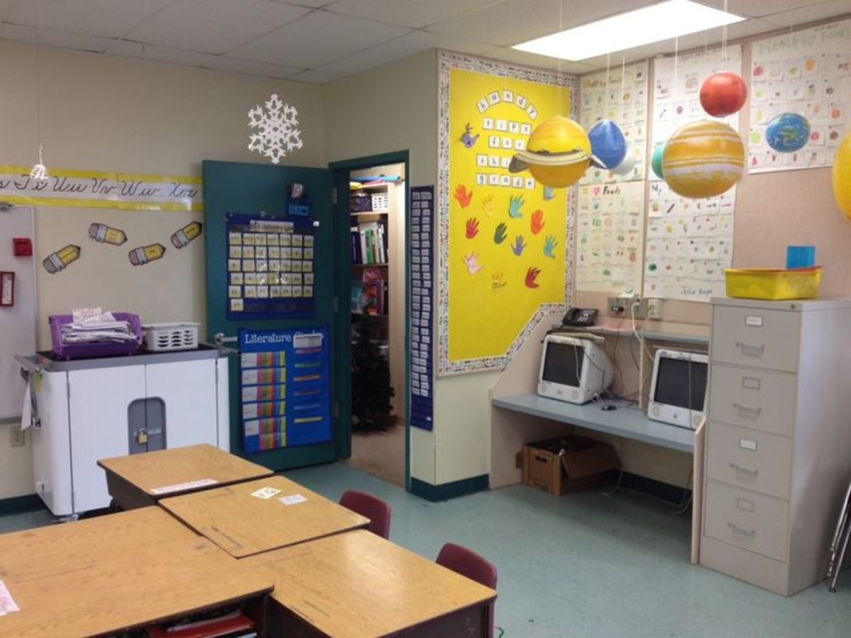 One way to arrange a room for special and/or general education students.