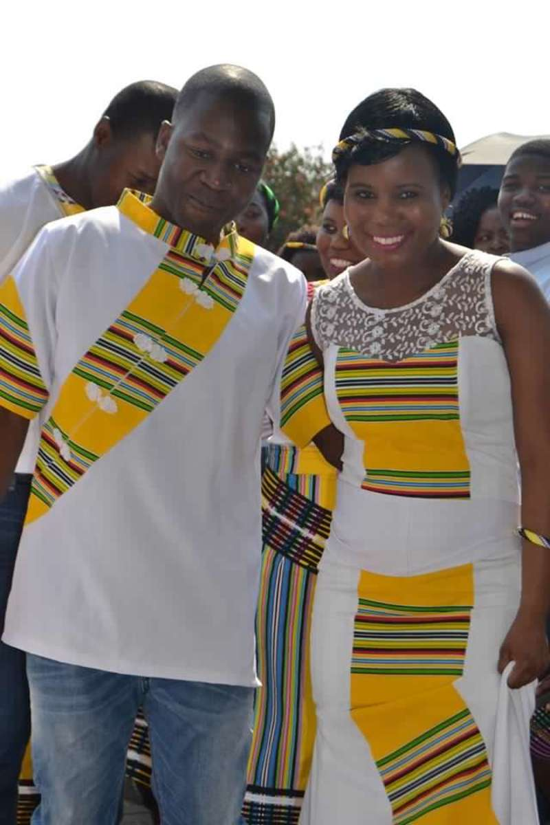 Venda bride and bridegroom, South Africa
