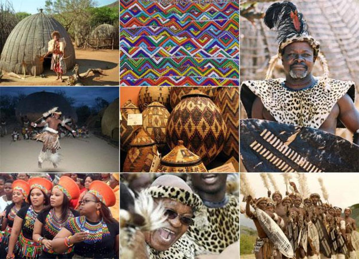 Zulu people South Africa - Current King Goodwill Zwelithini kaBhekuzulu (top right), President Zuma (bottom row)
