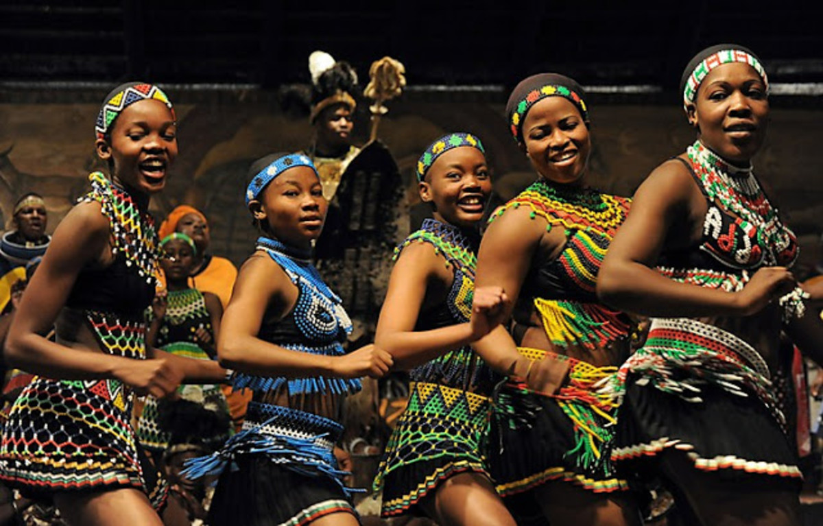 Tswana dancers attending a cultural event