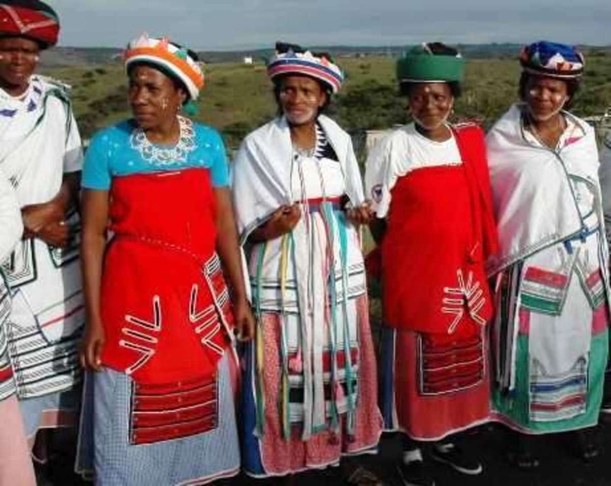 Modern Xhosa women attending a traditional function
