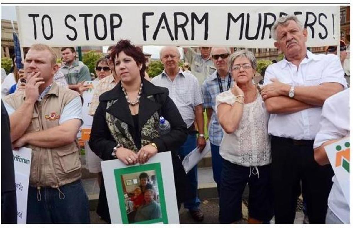 Modern Afrikaners protesting against farm murders