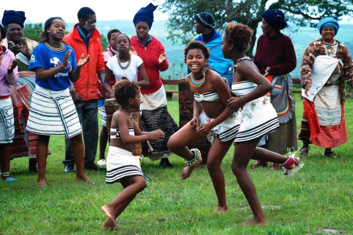 Modern Xhosa children attending a traditional function