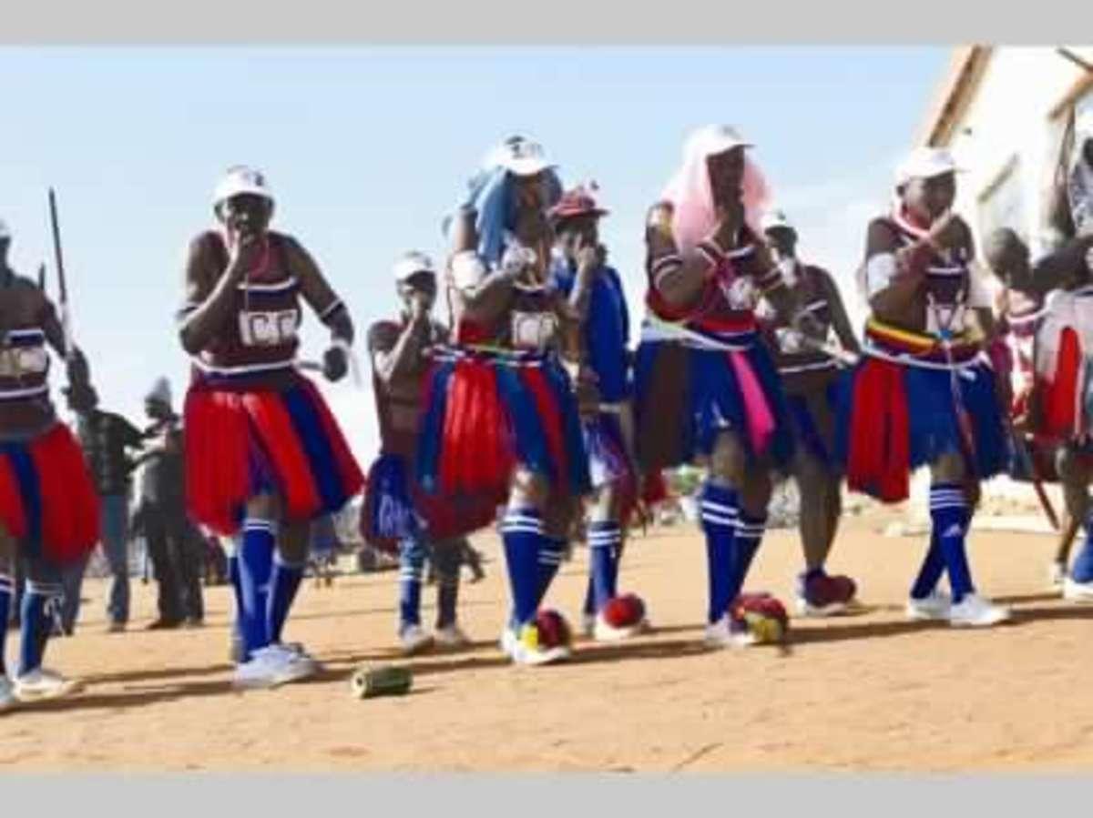 Pedi men at a cultural event, South Africa