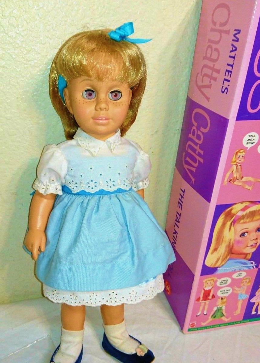 Here is the Mattel 1998 Talking Chatty Cathy doll. She is a Reproduction Classic Chatty Cathy ...