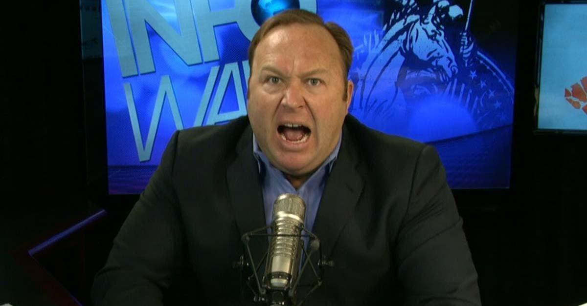 InfoWars' Alex Jones in full-blown rant mode.