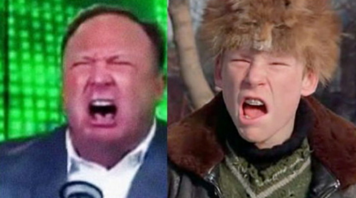 Alex Jones channels his inner Scut.