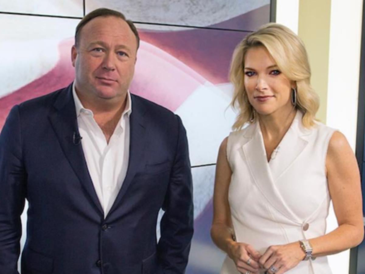 Alex Jones with Megyn Kelly.