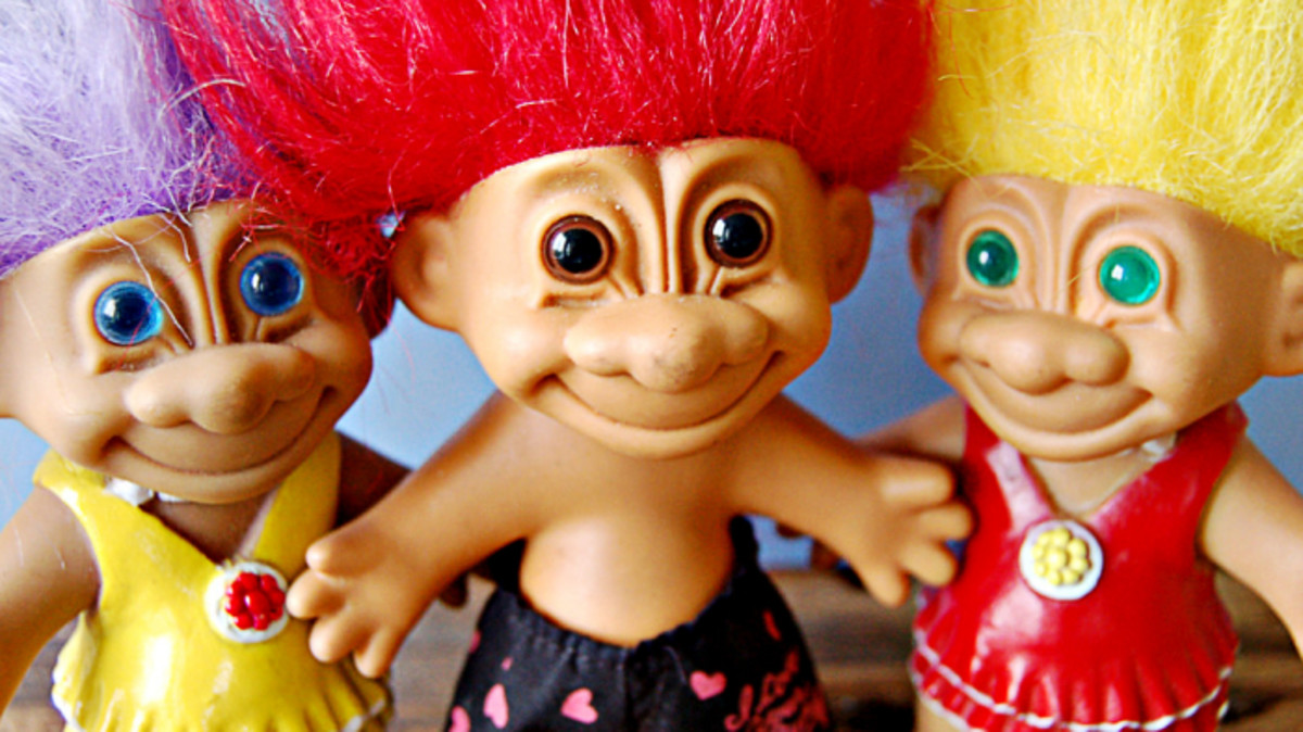 Trolls ! my lovely favorite Troll Dolls from way back when!
