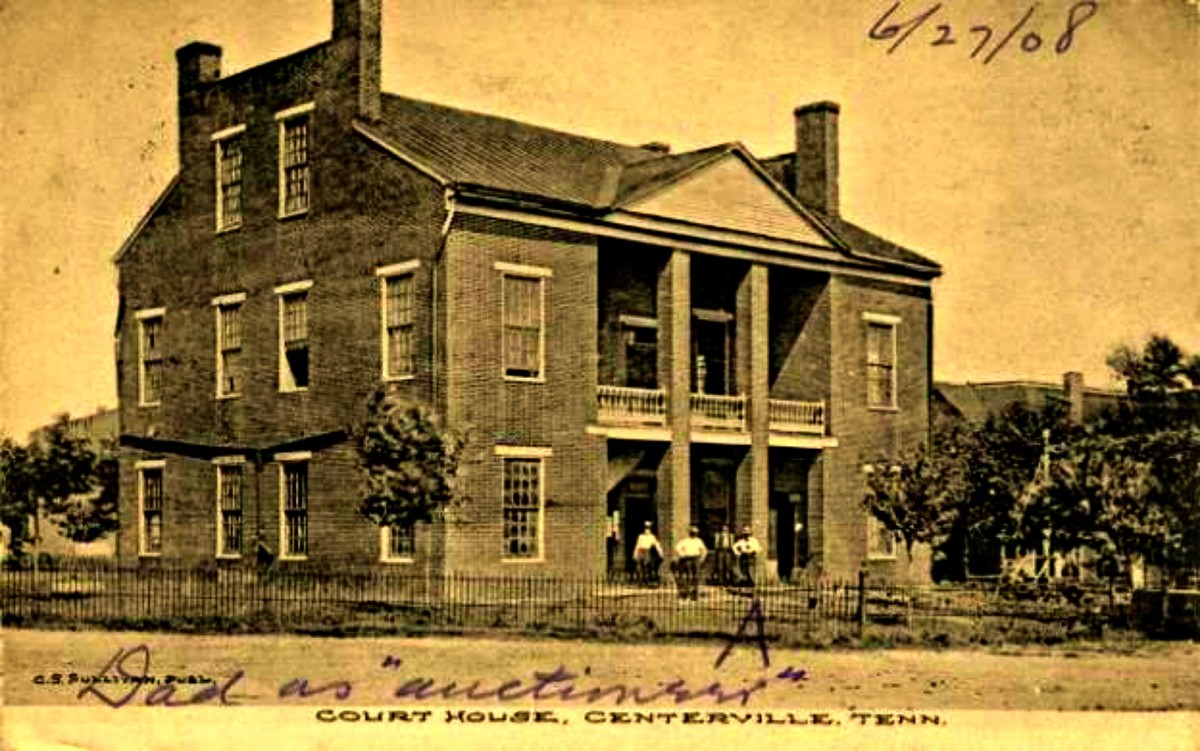 The the first Courthouse in Centervile Painstakingly rebuilt in 1867 using the original bricks, and with a great deal of love. The once beloved Centerville Courthouse building