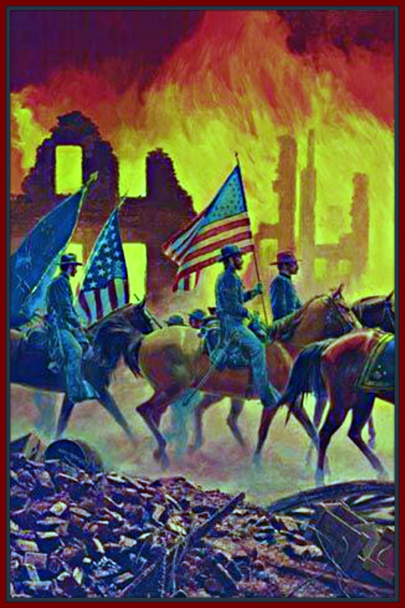 The destruction of towns and cities in the South was unparalleled in the Civil War. This was truly the first modern war.
