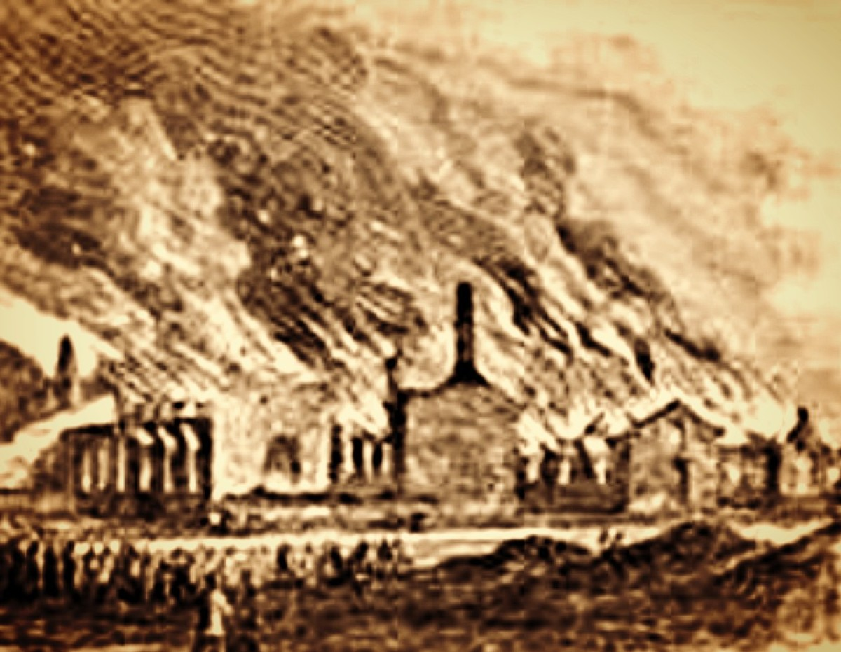 According to one resident. They left the entire town in ruins, a smoking mass of coals and ashes over which Desolation reigned supreme. Union troops then duplicated that outrage at once beautiful town of Vernon, leaving nothing to rebuild.