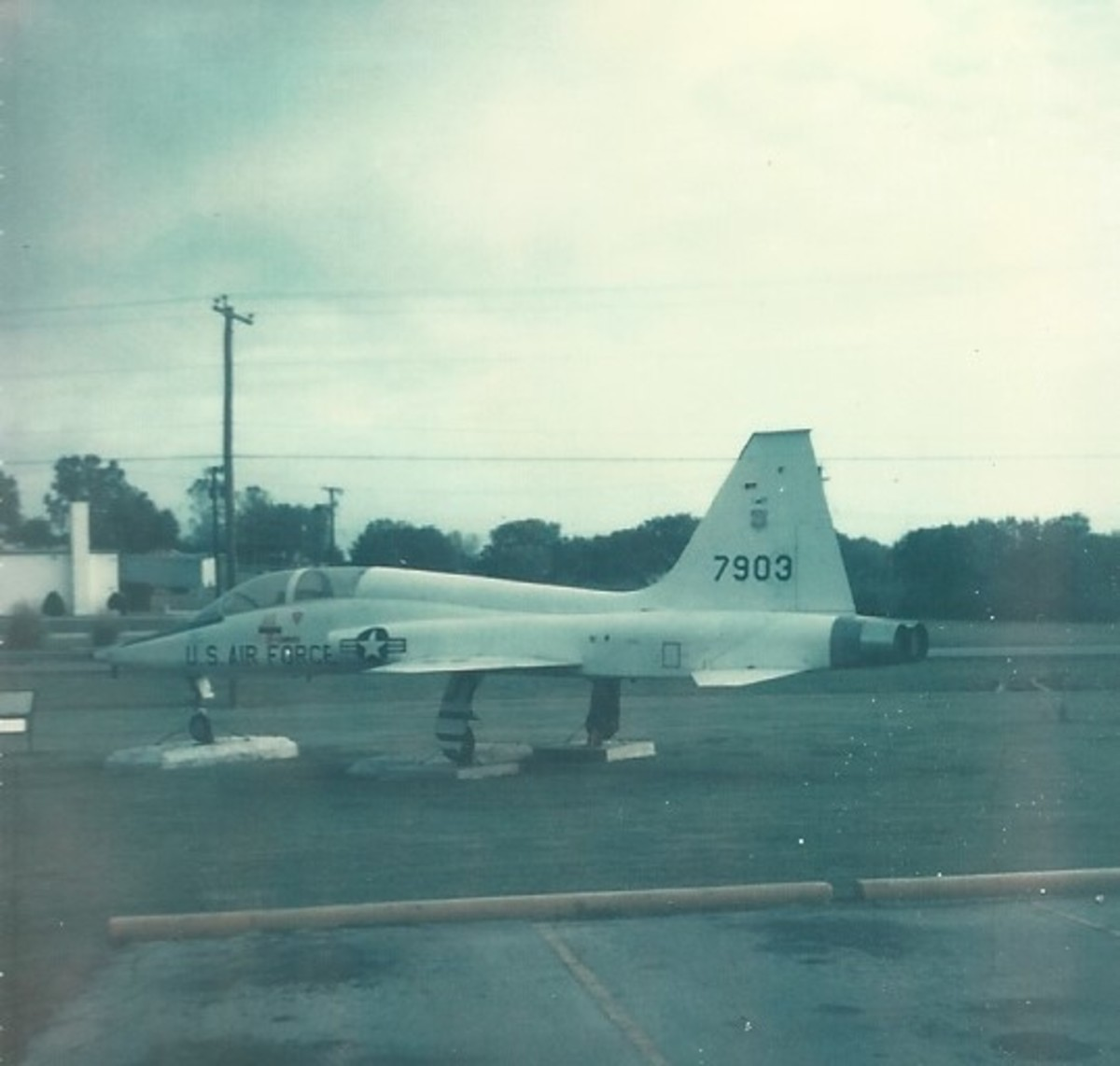 A USAF T-38 on display at Medina AFB, TX, 1978.