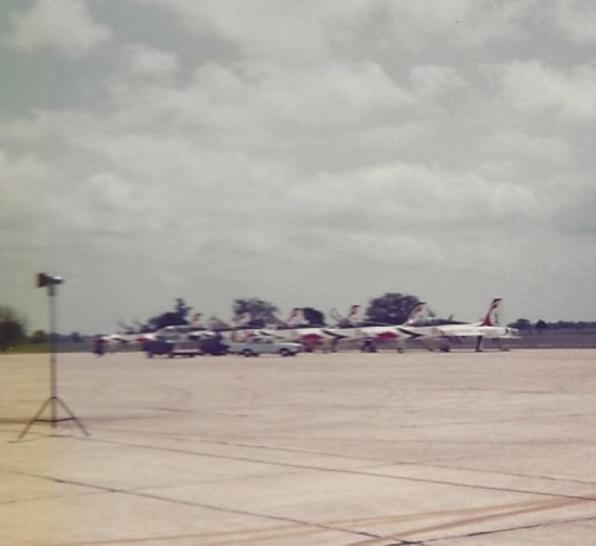 The T-38s of the USAF Thunderbirds, Randolph AFB, TX, 1980.