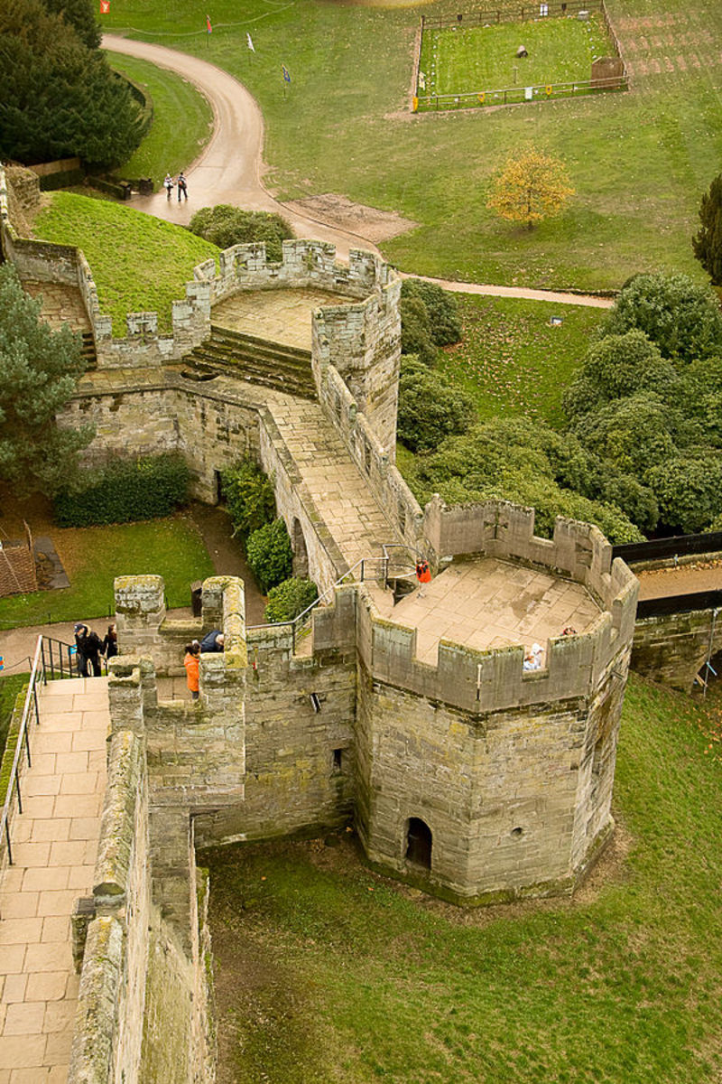 Gate Towers or Clarence Towers of Warwick Castle