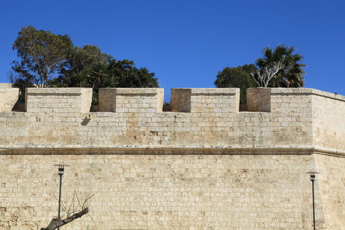 Embrasures at Mdina, Malta