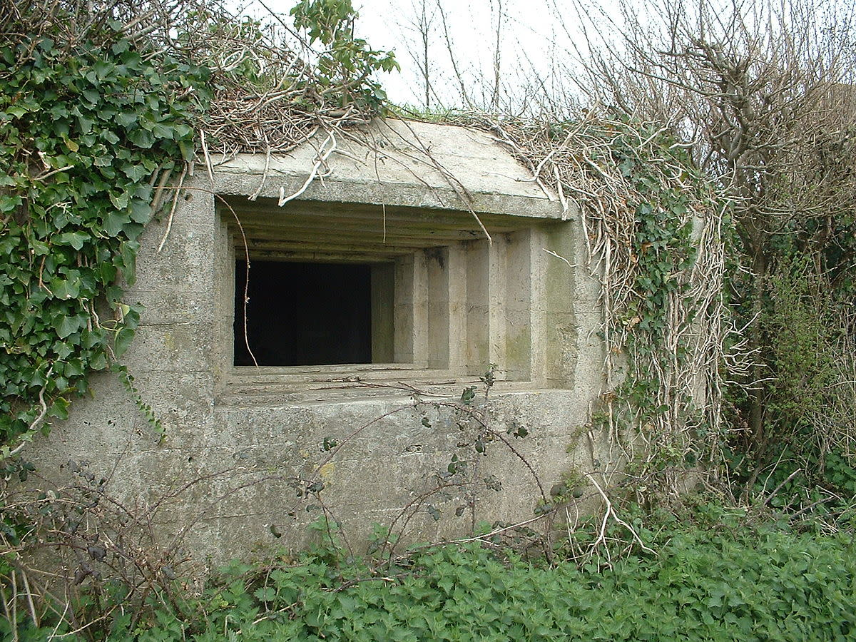 Pillbox stepped embrasure, Taunton Stop Line, England