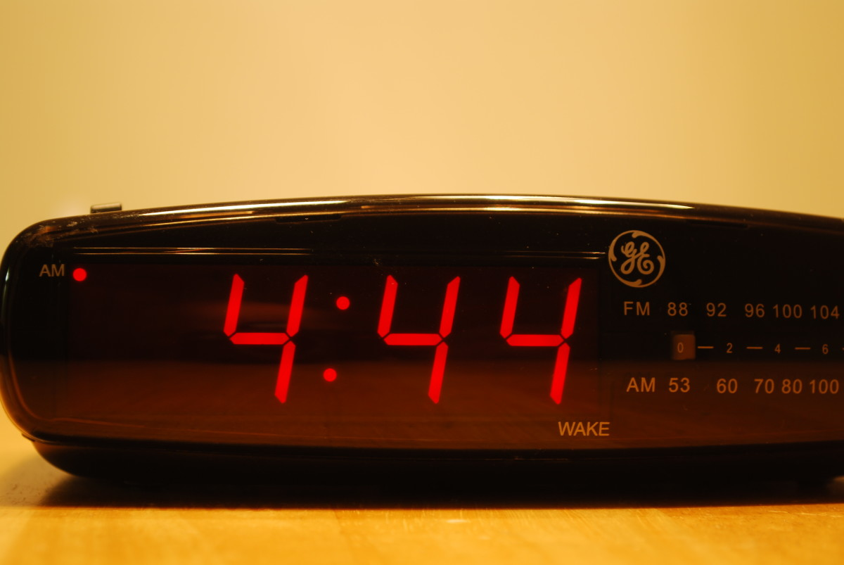 If you wake up at night and notice the clock showing 4:44 or 3:33 and so on, what does it mean?