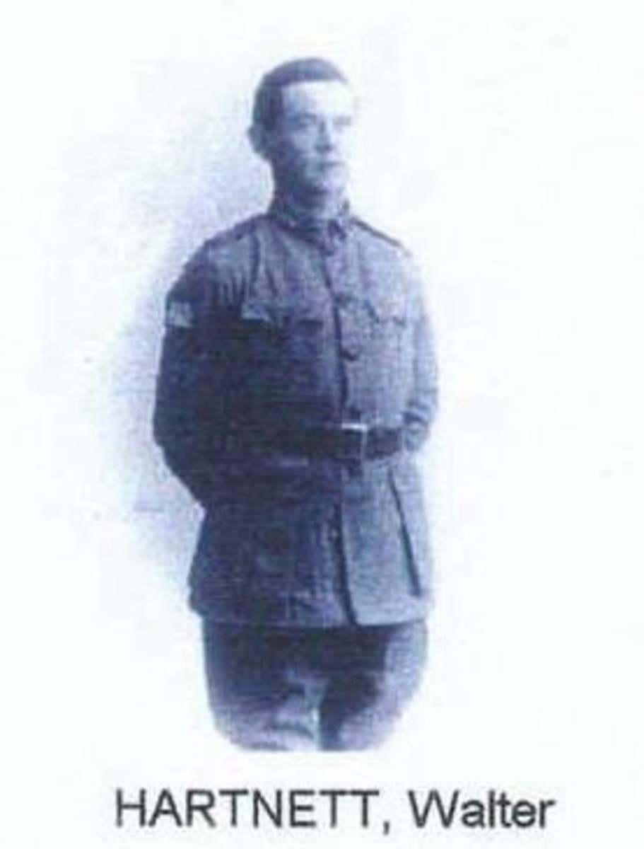 Walter Robert Hartnett of the Australian Light Horse Regiment