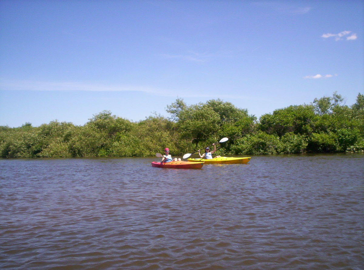 Kayakers on the Kalamazoo River
