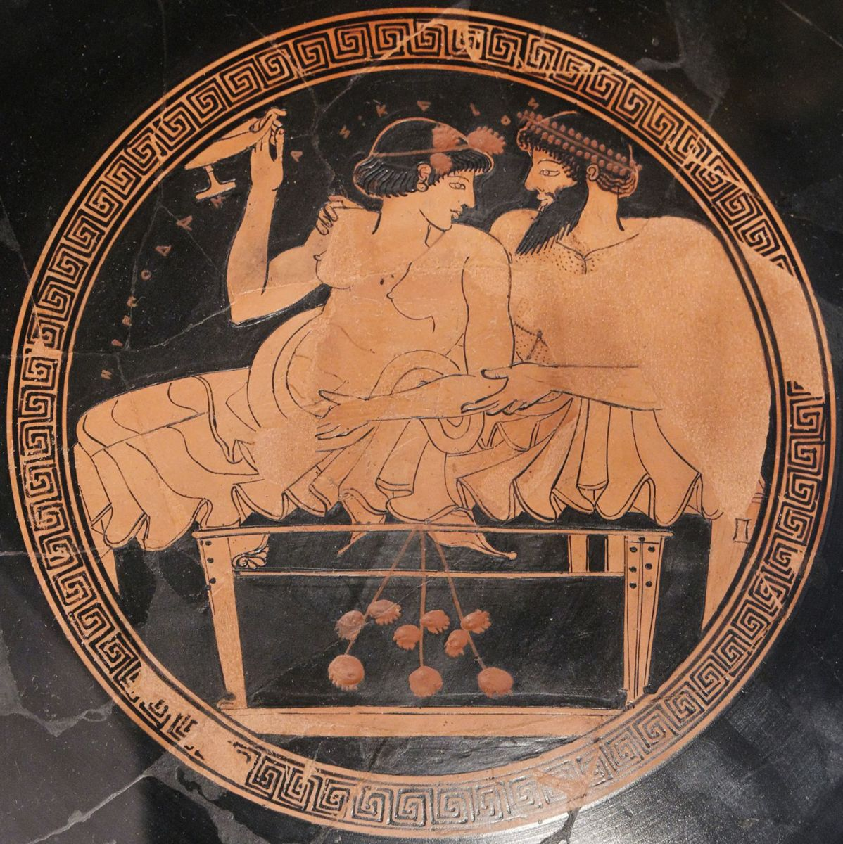 Vases are one of the most important things we have to study gender relations in the era, by their visual depiction.