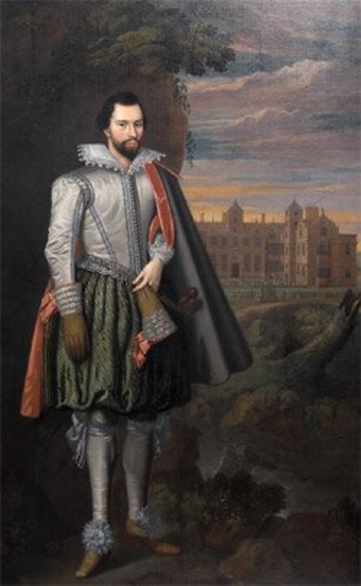 Sir Thomas Holte, showing off Aston Hall.