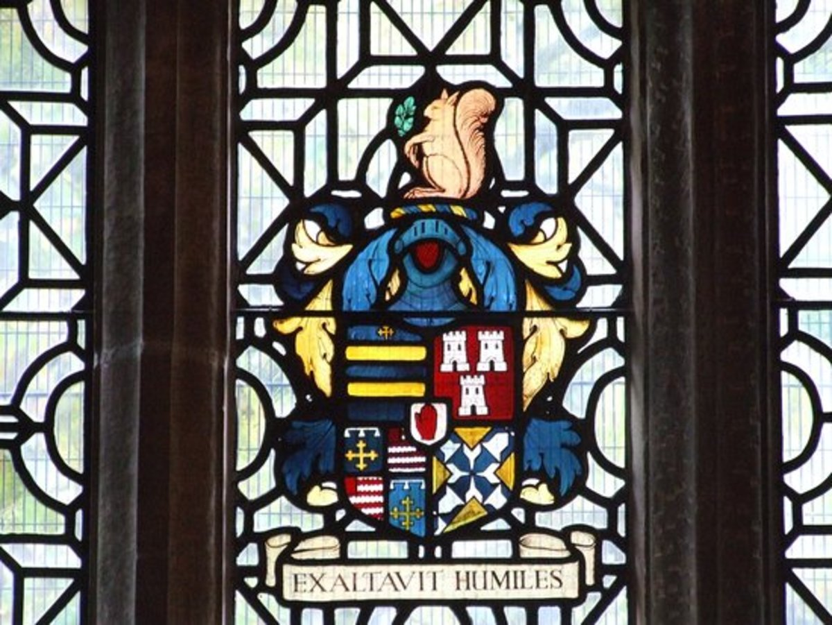 "The Holte Family Crest, complete with Red Hand. The motto means ""Lifting up the Lowly"", as opposed to murdering them."