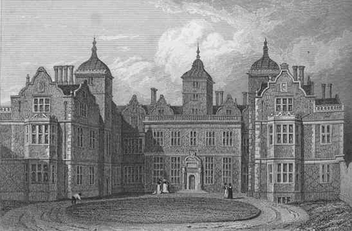 Etching of Aston Hall from 1829