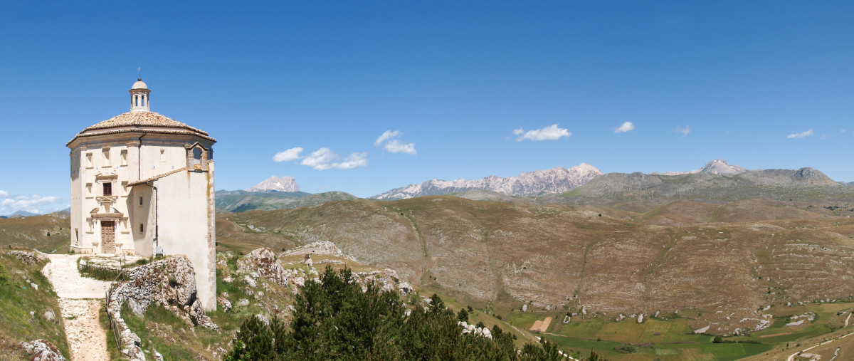 The Wild Landscape of the Abruzzo Region in Italy
