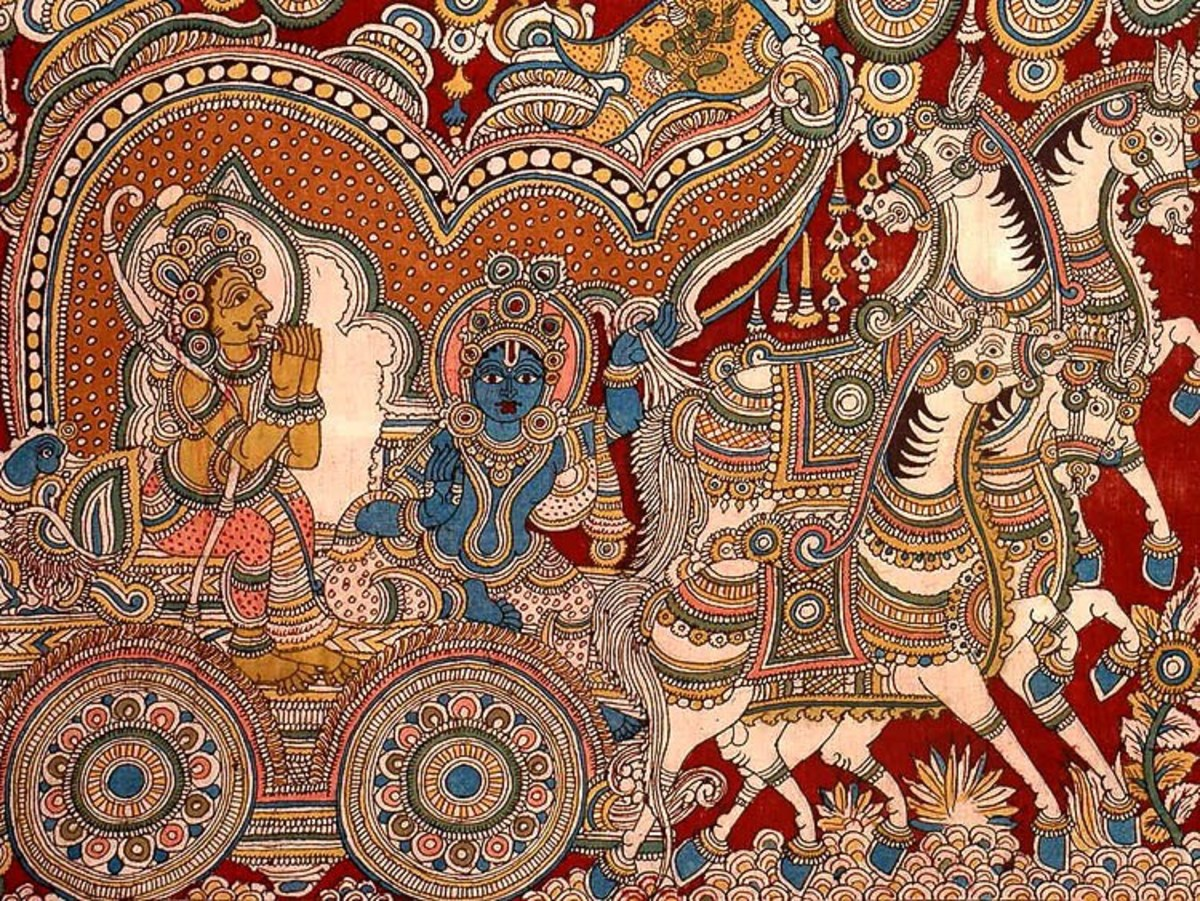 Kalamkari Design (Image Courtesy: Desicraft blog)