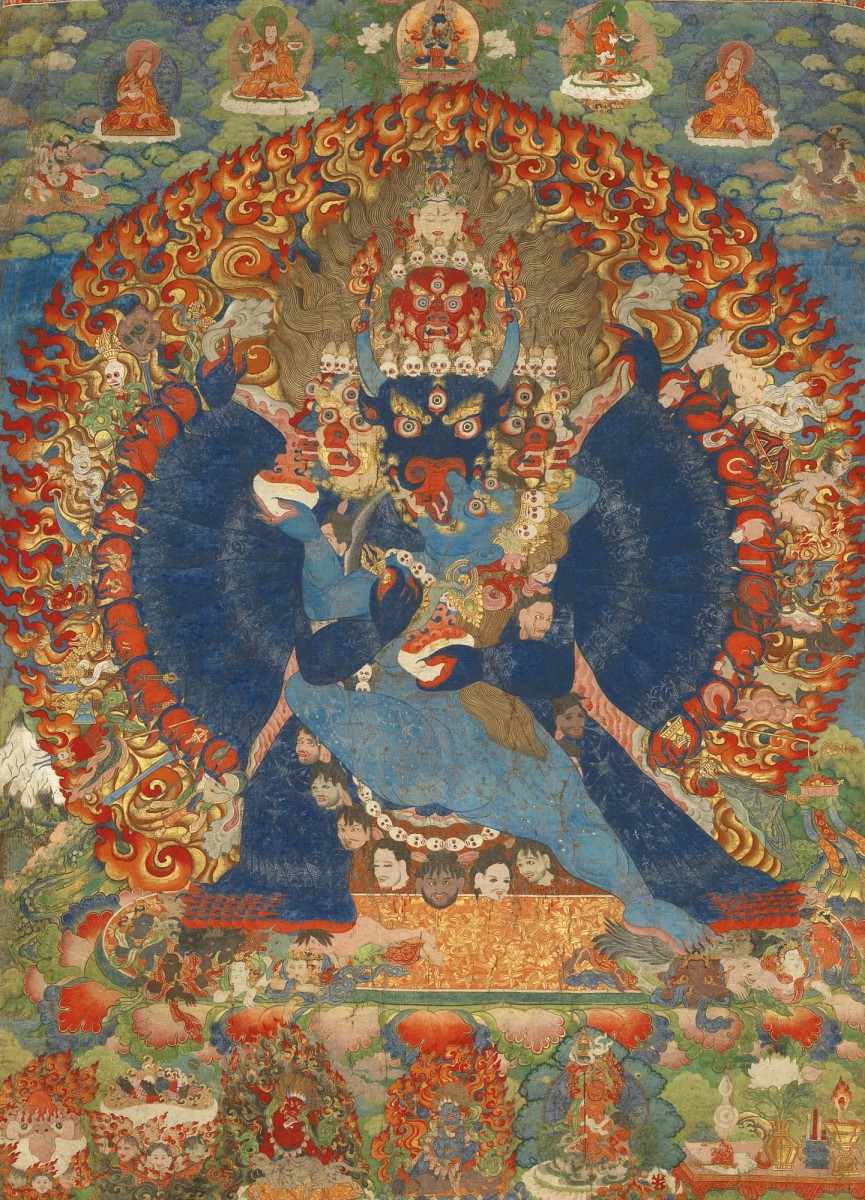 Thangka Depicting Vajrabhairava, c. 1740