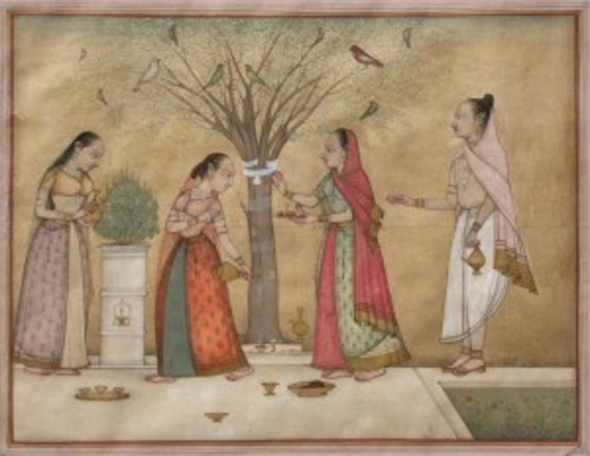 Artist at work. Bikaner c. 1780-90. Painting of India.JPG