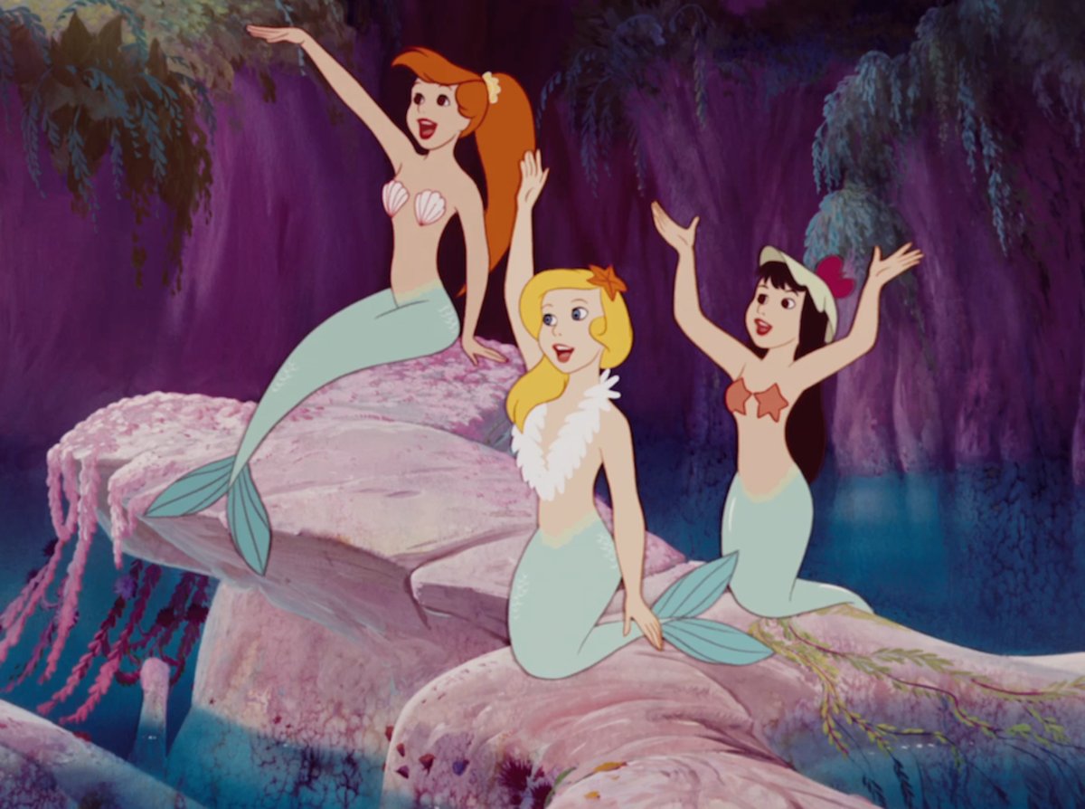 Mermaids from a Disney Movie
