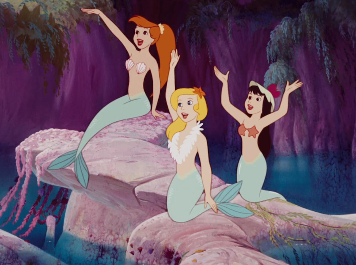 Mermaids from a Disney Movie