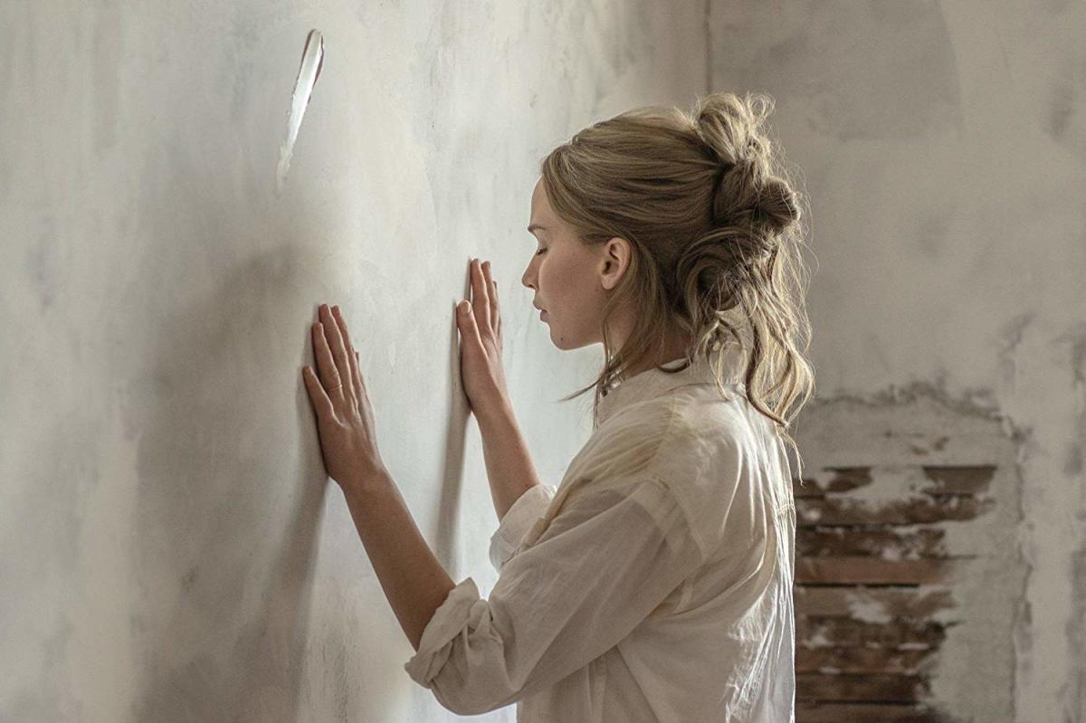 She's going to get fingerprints on that white   wall.