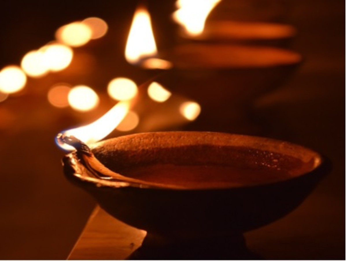 Pic : Clay lamps