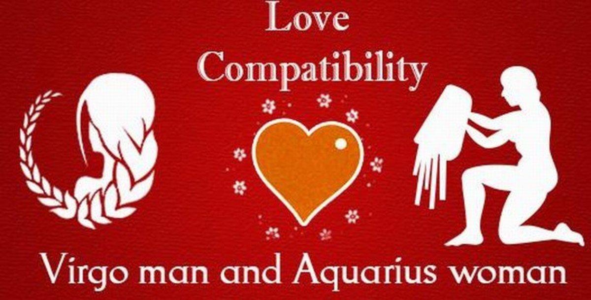 Aquarius Woman and Virgo Man