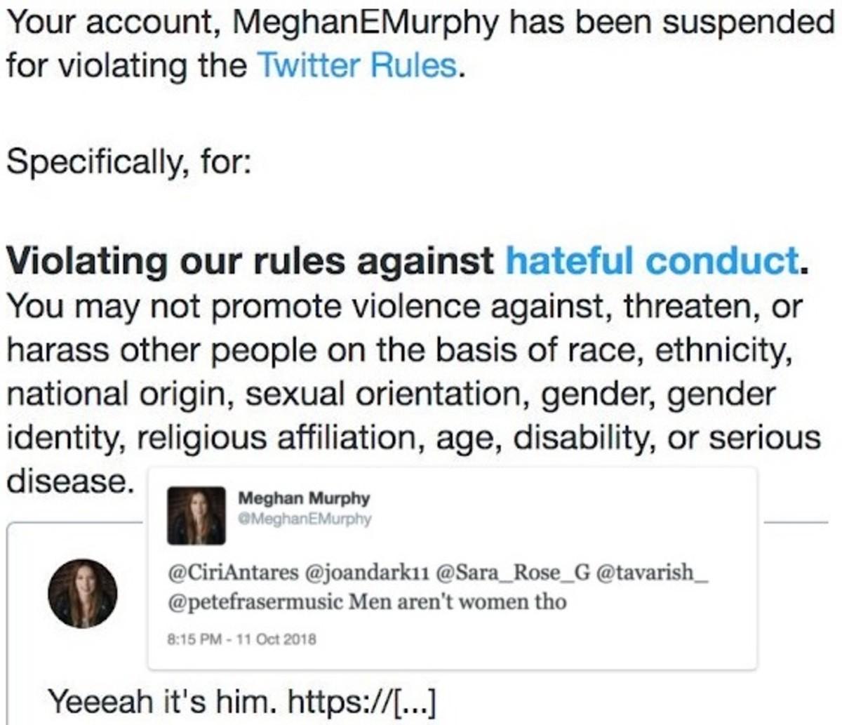 """Meghan Murphy's """"transphobic"""" tweets"""