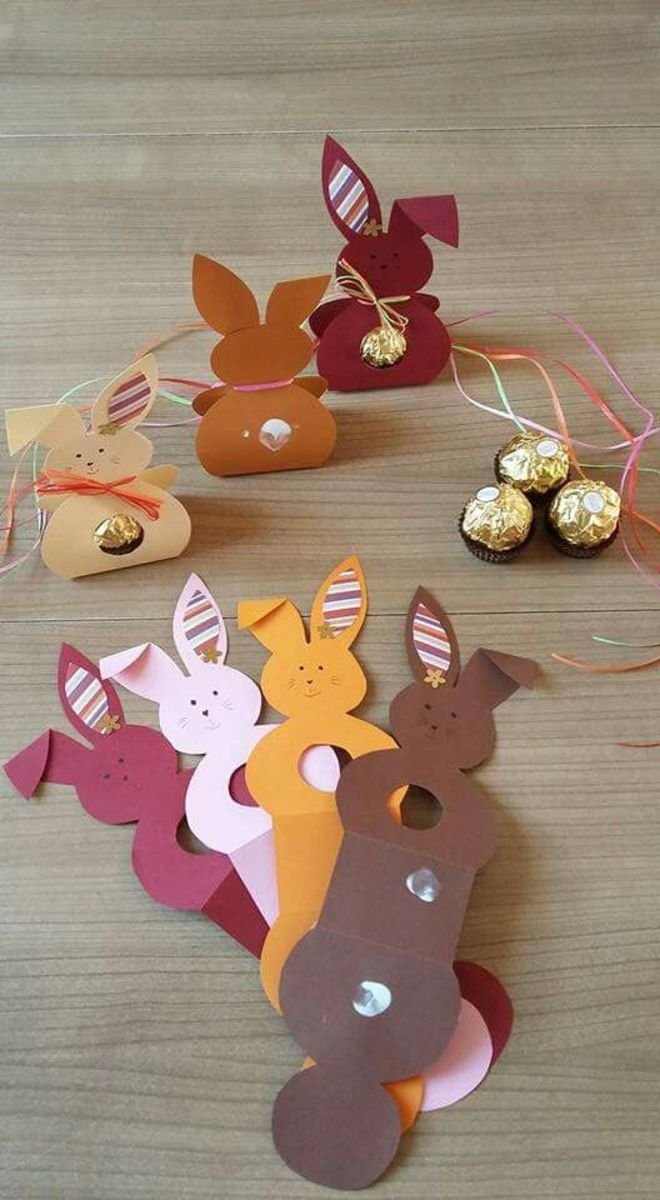 Printable Easter Bunny Candy Wrappers | Easy Easter Crafts for Kids to Make