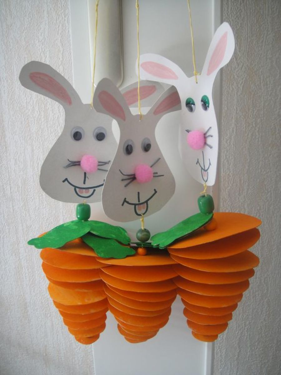 Paper Carrot Craft | Easy Easter Crafts for Kids to Make