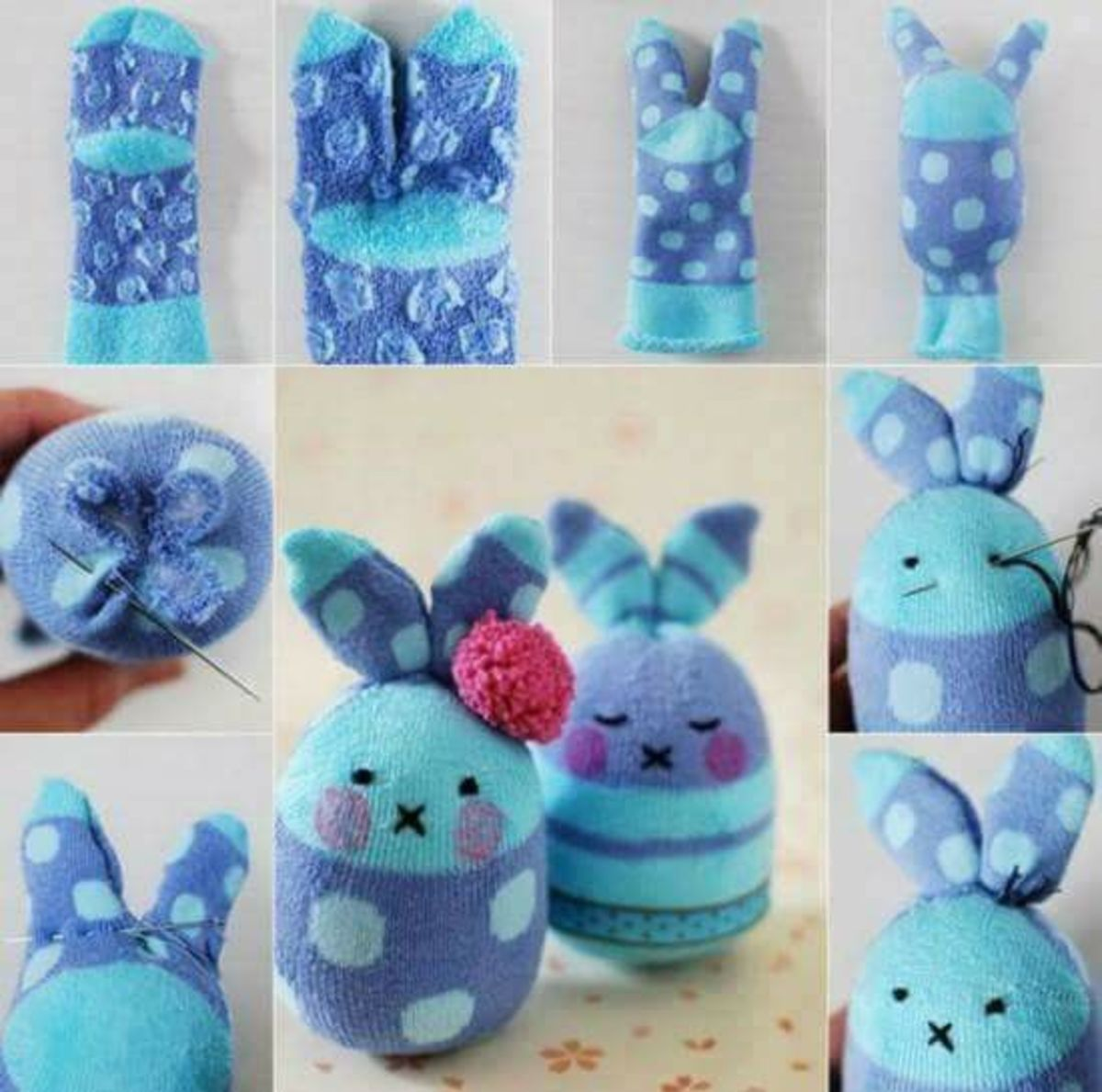 Easter Sock Bunnies | Easy Easter Crafts for Kids to Make